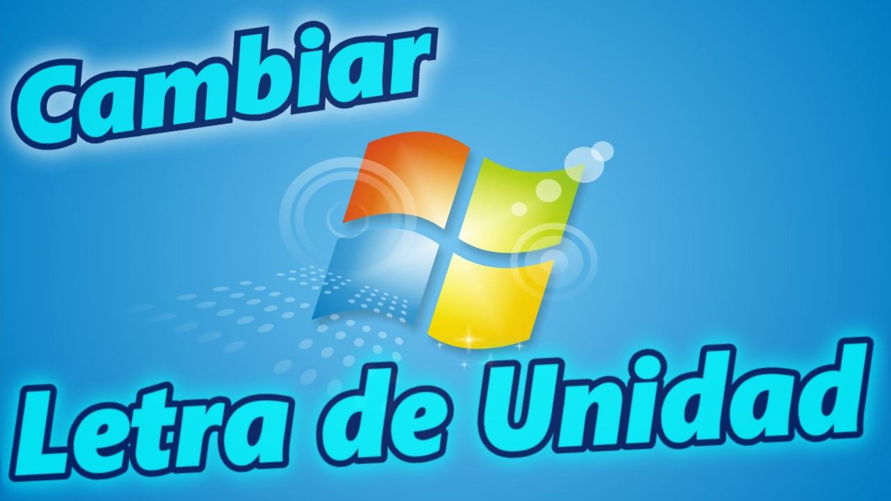 Cambiar la letra de unidad de disco en Windows