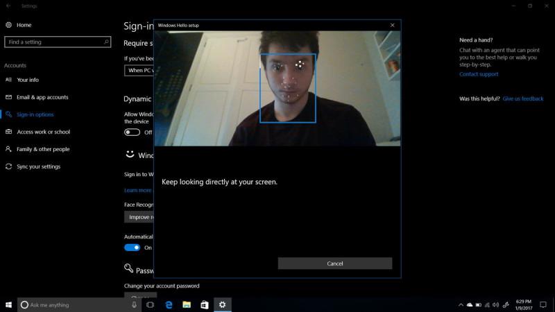 Al escanear el rosto del usuario, Windows 10 sabrá cuando estamos (o no) delante de la pantalla