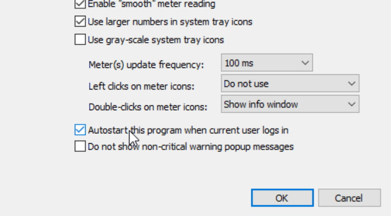 Hacer que Compact Tray Meter se ejecute al iniciar sesión en Windows
