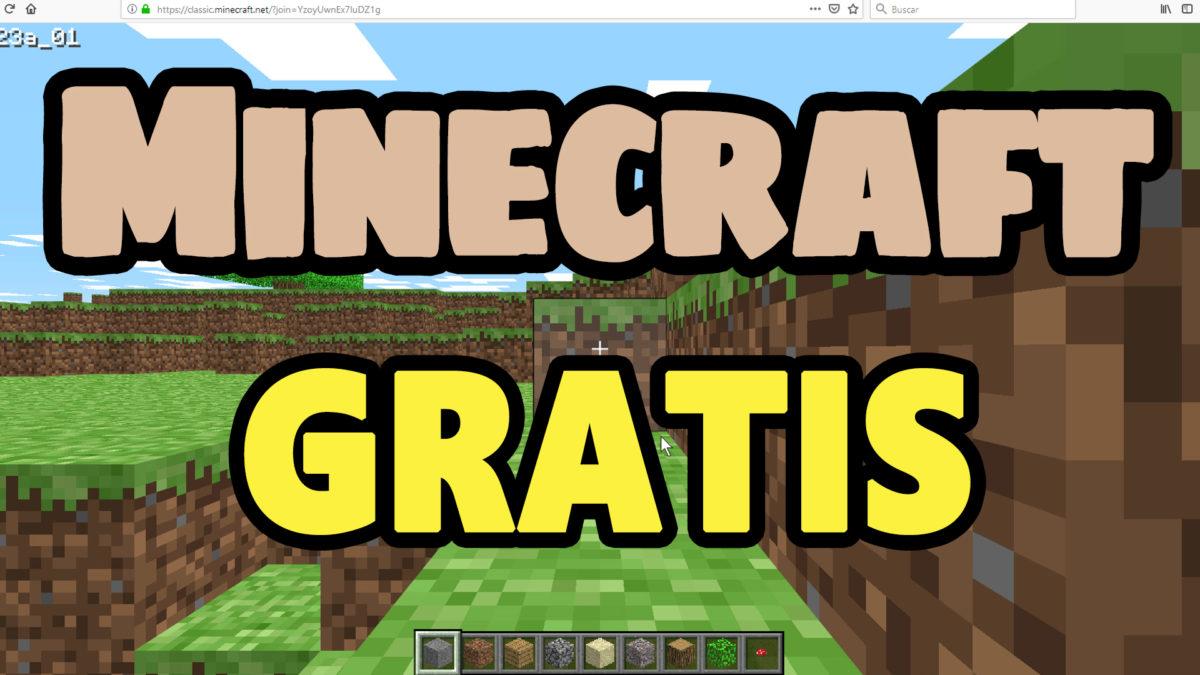 Jugar a Minecraft Classic gratis desde el navegador